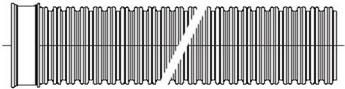 Двухслойные профилированные трубы Korsis (отрезки по 6 и 12м)